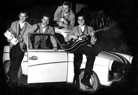 Das Theo-Schumann-Quartett um 1960 (Fotograf unbekannt), Tanzkapellen in Dresden