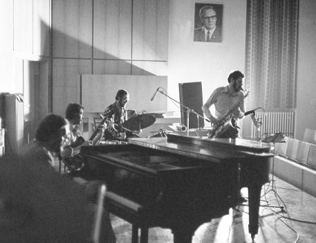 Das Freiberger Jazzquintett im März 1976, Foto: Gunther Galinsky